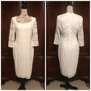 NWT GORGEOUS WHITE LACE FORMAL DRESS SZ 12